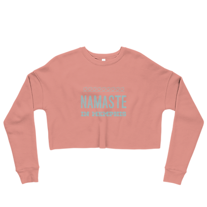 """Namaste in Memphis' Cropped Sweatshirt"