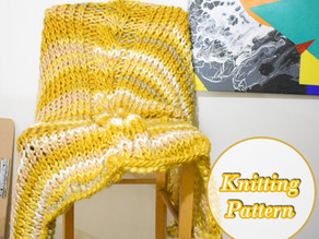Chunky Knit Cable Blanket [Free Knitting Pattern]