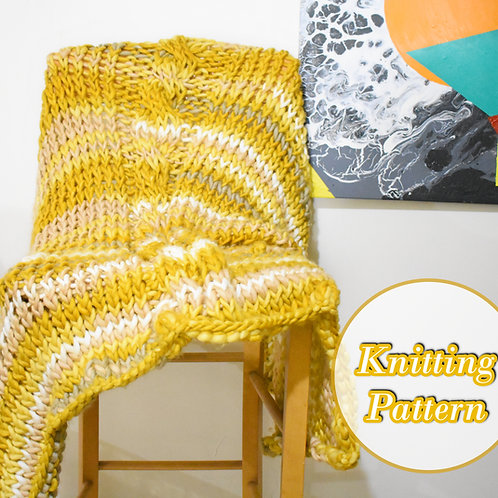Chunky Cable Knit Throw Pattern