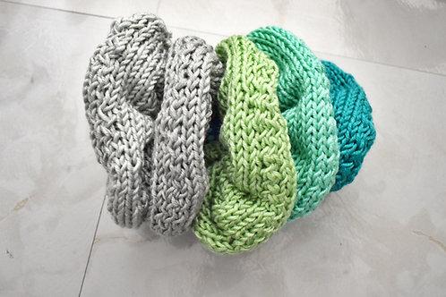 Luxury Silk Blend Scrunchies ( 5pk)