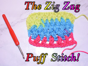 How to Crochet the ZigZag Puff Stitch