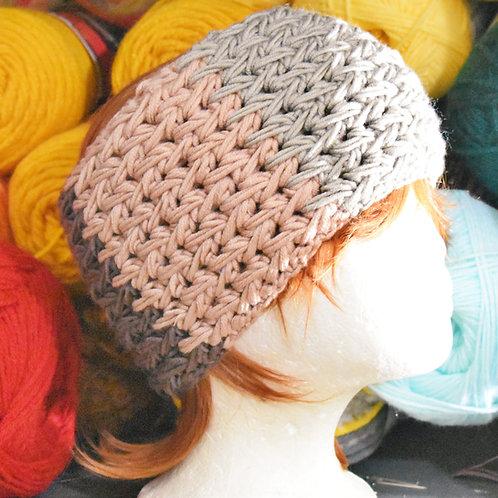 Feather Stitch Merino Blend Ear Warmer Headband