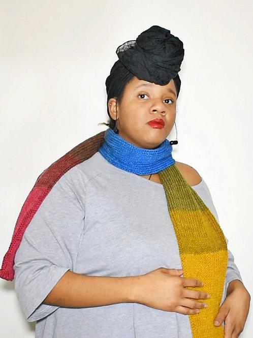 Mandala Knitted Long Scarf
