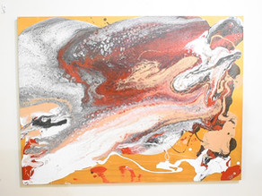ArtsyChiitos: Acrylic Pour Commission