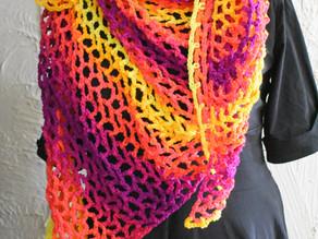 [Finished Object] The Fishnet Shawl