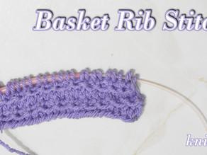 Knitted Basket Rib Stitch