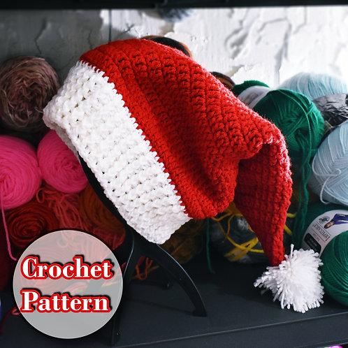 Traditional Crochet Santa Hat Pattern