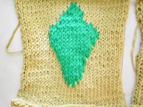 Plumbob Patch [Free Knitting Pattern]