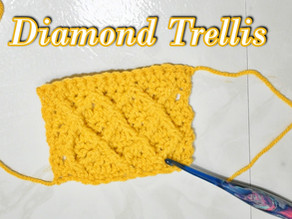 How to Crochet the Diamond Trellis Stitch