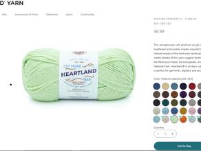 New Shades of Lion Brand Heartland Yarn