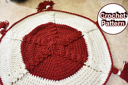 Cable Spoke Rug Holiday Crochet Pattern