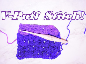 How to Crochet the V-Puff Stitch