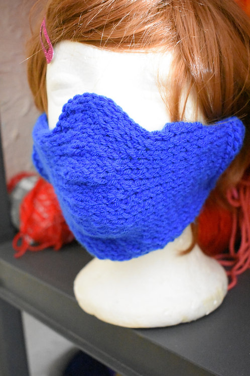Knitted Faux Mask Overlay