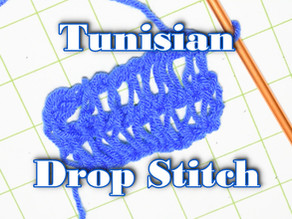 How to Crochet the Tunisian Drop Stitch