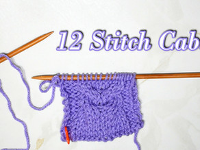 How to Knit the 12 Stitch Cable