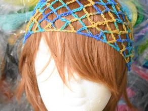 Fishnet Headband Free Knitting Pattern