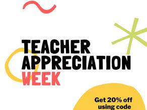 It's Teacher Appreciation Week! [SALE]