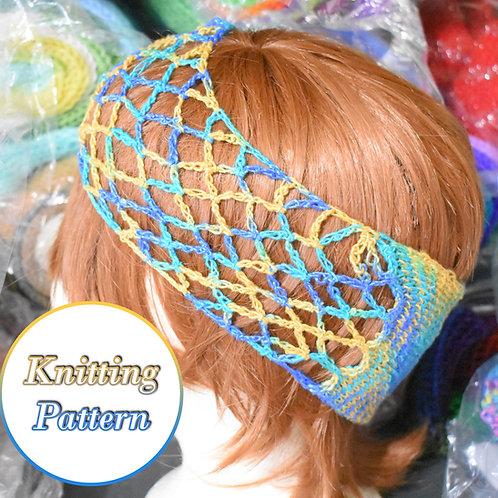 Fishnet Headband Knitting Pattern