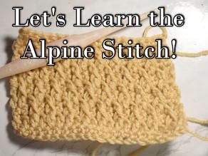 How to Crochet the Alpine Stitch [Video Tutorial]
