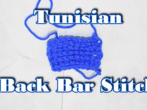 How to Crochet the Tunisian Back Bar Stitch