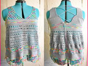 Summer Ecstacy Crochet Top Pattern [Free Crochet Pattern]