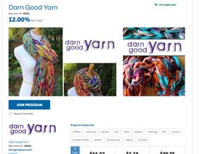 Affiliate Link Update - Darn Good Yarn