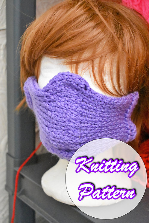 Free Copy of Knitted Faux Mask Overlay Pattern