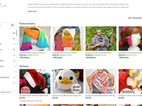 May 8th : A Year Into Craft Selling Online