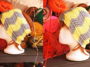 Tunisian Crochet Chevron Ripple Earwarmers [Pattern]