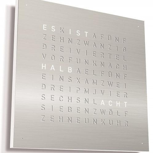 Frontcover EDELSTAHL gebürstet zu QlockTwo classic 45 x 45cm