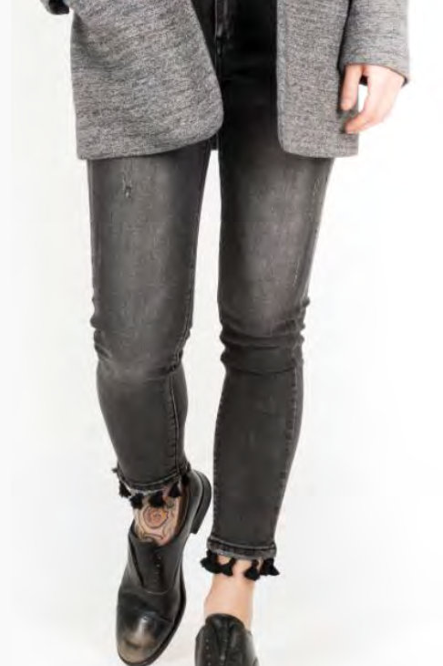Bianco Jeans Hickory 1218433 Boyfriend - Knopf Black Denim