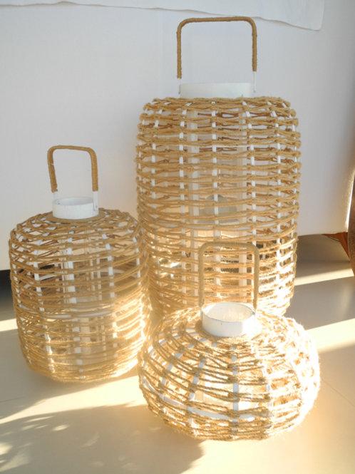 Windlicht XXL mit Glaseinsatz