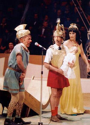 Freddy, Nello e Henny em Cleopatra (1976)