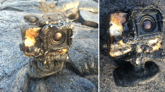 Watch: a GoPro camera was swallowed by lava, recorded the whole thing and survived to tell the tale.