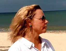 Maarit on the beach