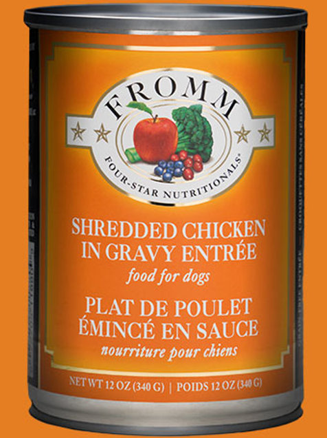 Fromm Four Star Shredded Chicken in Gravy Entrée