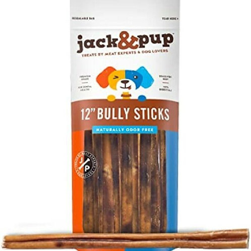 """Jack and Pup 3 Pack 12"""" Bully Sticks"""