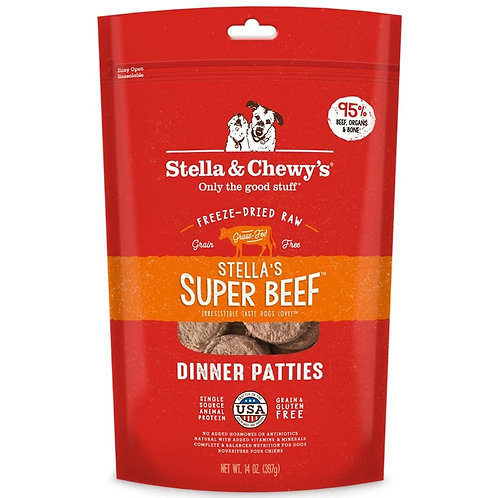 Stella & Chewy's Super Beef Freeze-Dried Raw Dinner Patties