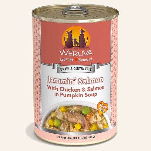 Weruva Jammin' Salmon with Chicken & Salmon in Pumpkin Soup