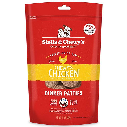 Stella & Chewy's  Chicken Freeze-Dried Raw Dinner Patties