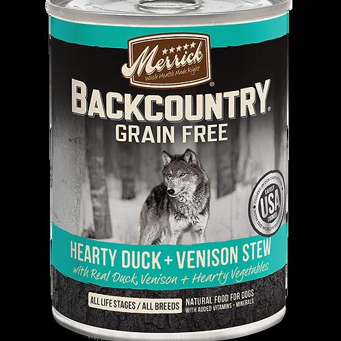 Merrick Backcountry Grain Free - Hearty Duck + Venison Stew