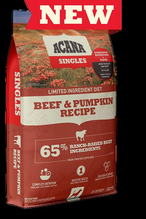 Acana Singles Beef & Pumpkin Recipe