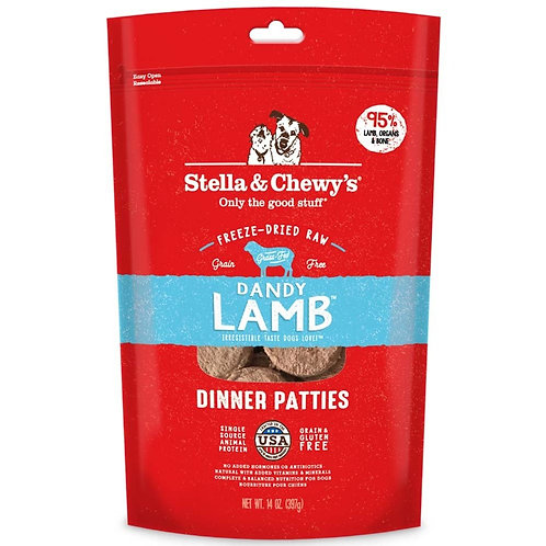 Stella & Chewy's Dandy Lamb Frozen Raw Dinner Patties