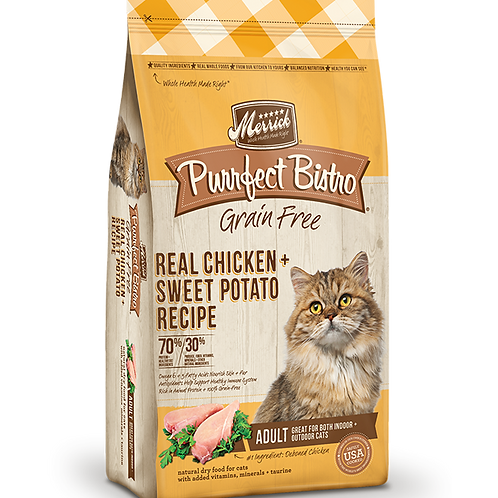 Merrick Purrfect Bistro Grain Free Real Chicken + Sweet Potato Recipe