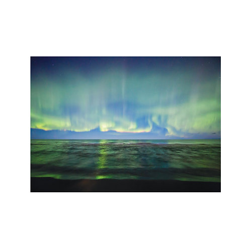 Lake Superior Beach Aurora Note Card