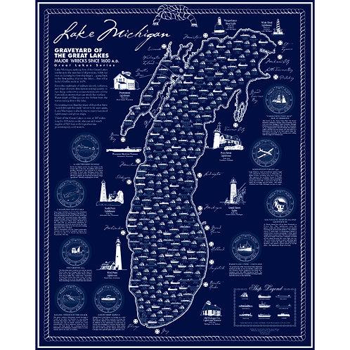 Lake Michigan Shipwreck Poster