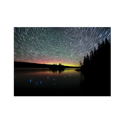 Aurora and Star Trails Note Card