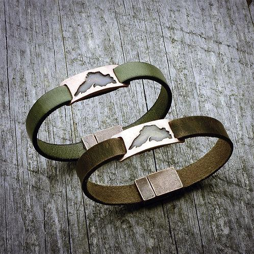 Leather Strap Lake Superior Bracelets