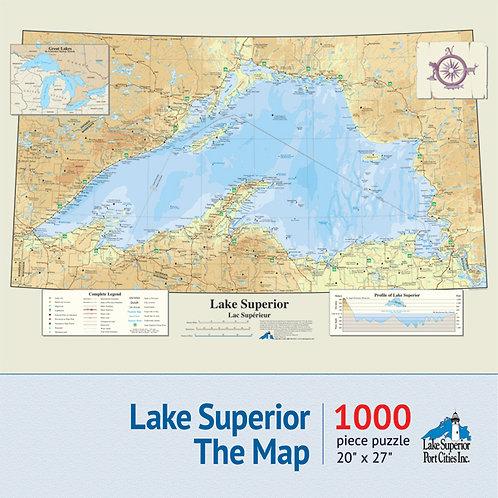 Lake Superior Map Jigsaw Puzzle