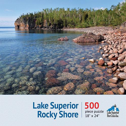 Lake Superior Rocky Shore Jigsaw Puzzle
